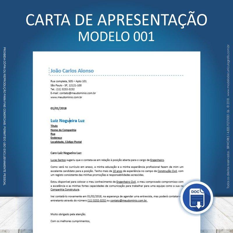 Carta De Apresentação Para Currículo 10 Modelos Prontos