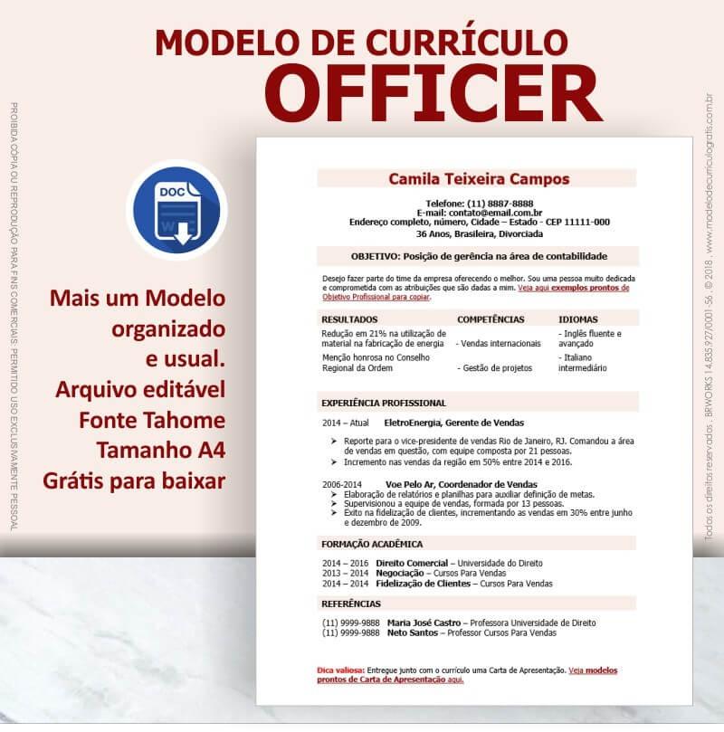 modelo officer