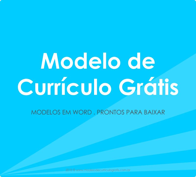 Modelos De Curriculo Pronto Para Preencher Em Word Baixar Gratis