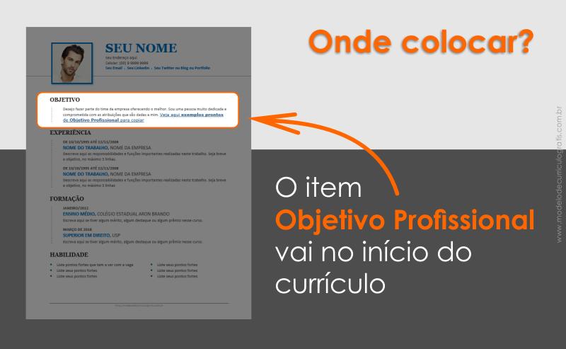 Objetivo Profissional para Currículo – 20 Exemplos Prontos para Copiar
