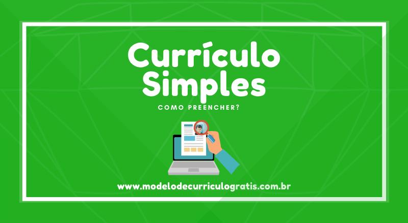currículo simples